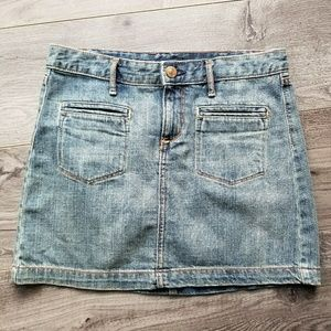 GAP BOHO DENIM MINI SKIRT